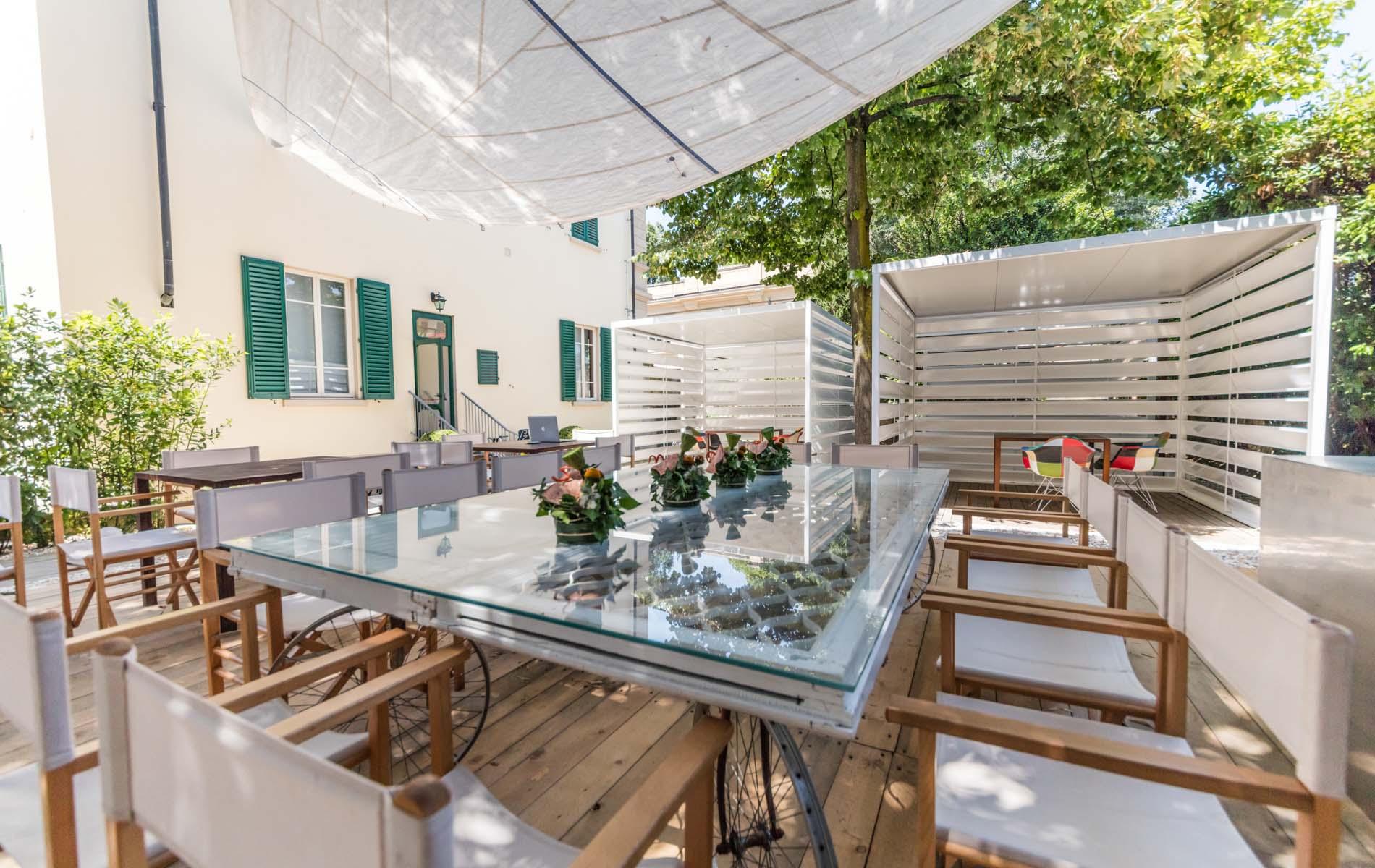 Un particolare del giardino a L'Architettura del Cibo