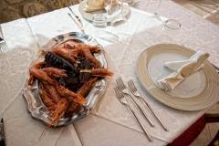 """Piatto di scampi del ristorante """"La Terrazza sulla Storia"""""""