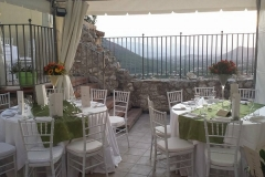 """La terrazza panoramica del ristorante """"La Terrazza sulla Storia"""""""