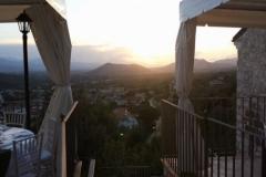 La terrazza al tramonto