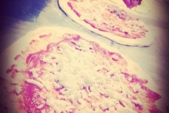 la preparazione delle pizze