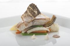 Piatto di pesce del ristorante Santa Teresa a Genova