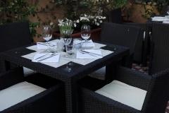 La terrazza del ristorante Timo di Genova