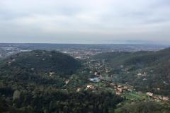 Vista panoramica fino al mare dal ristorante Le Tre Terrazze
