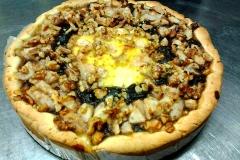 crostata pere crema e noci dell'Osteria del Mandorlo a Calvi