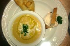 zuppa dell'Osteria del Mandorlo a Calvi
