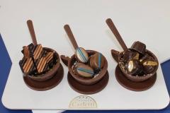 Creazioni di cioccolato della pasticceria Carletti di Terni