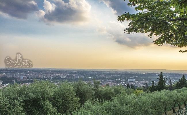 La vista panoramica su Verona dal San Mattia